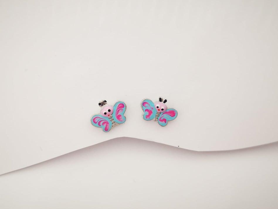 Leptir srebrne naušnice za curice