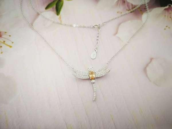 Vilin konjic srebrna ogrlica s
