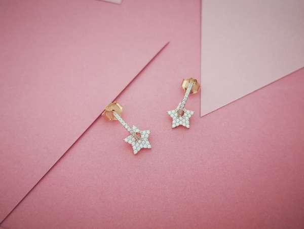 Sky stars srebrne naušnice