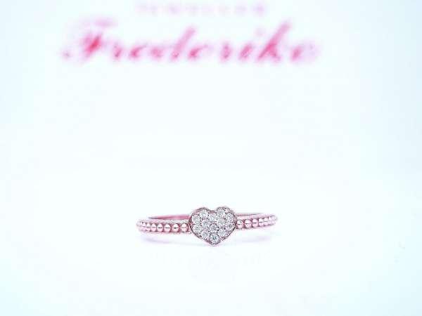 Srebrno srce prsten pozlata
