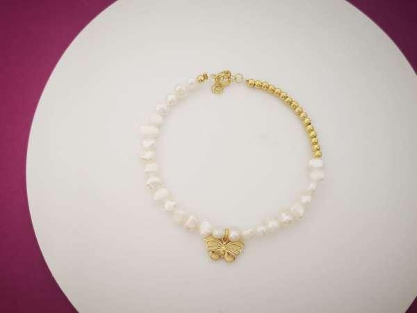Classy pearl narukvica leptir