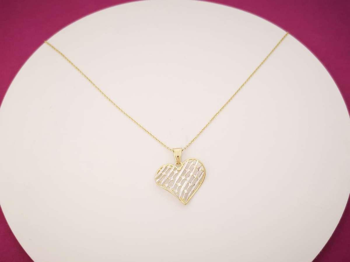 Zlatna ogrlica srce